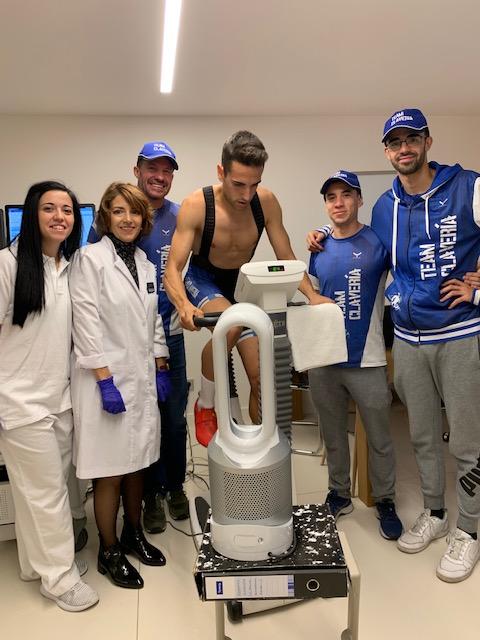 El team de Ricardo Clavería, el Triatlón